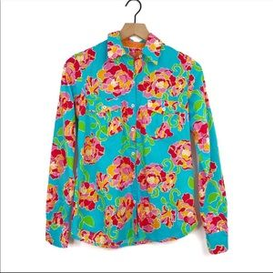 Lilly Pulitzer Resort Fit Sri Lanka Floral Shirt